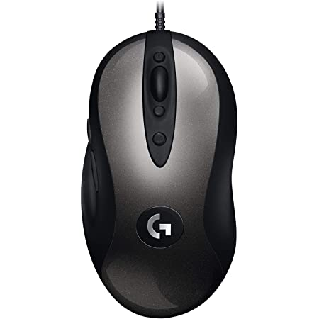 Logitech G MX518 Ratón Gaming con Cable, Captor HERO 25K, 25,600 DPI, ARM Procesador, 8 Botones programables, Compatible con PC/Mac - Negro/Gris