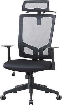 ドウシシャ オフィスチェア ハンガー付きチェアBK EPHC-BK
