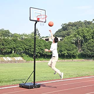Portable Basketball System, Removable Basketball Hoop, Portable Basketball Hoop w/Adjustable Height, Backboard and Wheels for Youth Indoor Outdoor Use