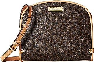 حقيبة للنساء من كالفن كلاين، لون بني- حقيبة طويلة تمر بالجسم