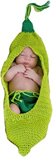 Ufraky Newborn Monthly Baby Photo Props Outfits Crochet Knitted Costume Set for Boy Girls Photography Shoot