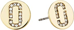 Marc Jacobs - Double J Pave Studs Earrings