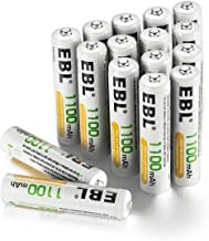 EBL Rechargeable AAA Batteries (16-Counts) Ready2Charge 1100mAh Ni-MH Battery