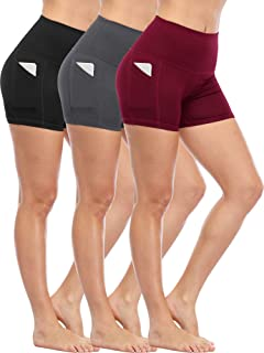 Cadmus Women's High Waist Stretch Athletic Workout Shorts...