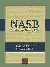 NASB Giant-Print Reference Bible: Indexed (Burgundy Imitation Leather)
