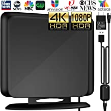 $24 » [Newest Version] Amplified HD Digital TV Antenna 120Miles Long Range -Support 4K/1080p Fire tv Stick and All Older TV's Indoor Powerful HDTV Amplifier Signal Booster - 13ft Coax Cable/AC Adapter