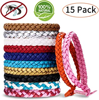 Mosquito Repellent Bracelet, PandyCare 15 Pack Mosquito Bands for Adults, Kids & Babies - Premium Quality, DEET-Free Natural Wristbands, Protection Insects up to 300 Hours