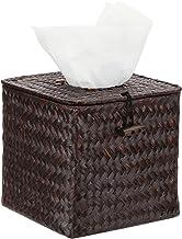 Pastos marinos tejida rellenable decorativo tejido Facial y servilletero caja w/tapa con bisagras tapa - MyGift®