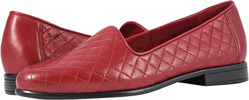 Dark Red Soft Quilted Leather