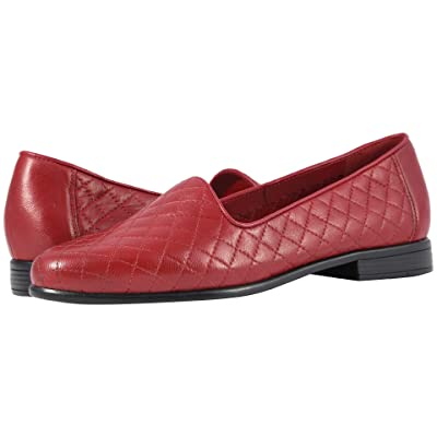 Trotters Liz (Dark Red Soft Quilted Leather) Women