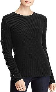 LAUREN RALPH LAUREN Stevie Women's Ribbed Knit Lace Up Pullover Sweater