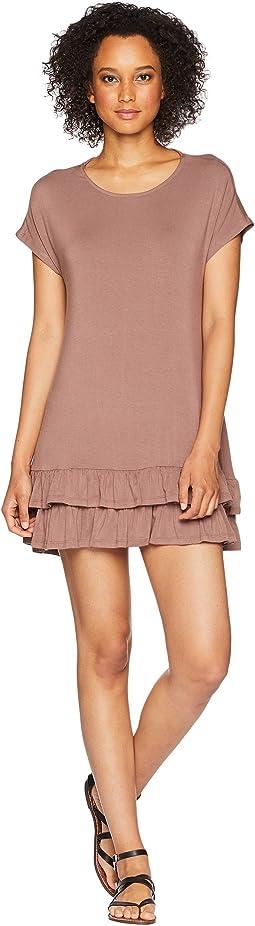 Andi Short Sleeve Ruffle Bottom Dress