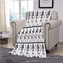 Velvet Plush Throw Blanket Super Soft And Cozy Fleece Blanket, Egyptian Decor,Hieroglyphics With Anubis Traditional Cultural Figure Mummy After Life Art Print,Black White, Perfect For Couch Sofa Or Be