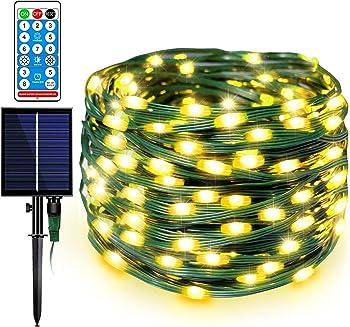 Decute Upgraded 108FT Waterproof 1200mAH Solar Fairy Lights