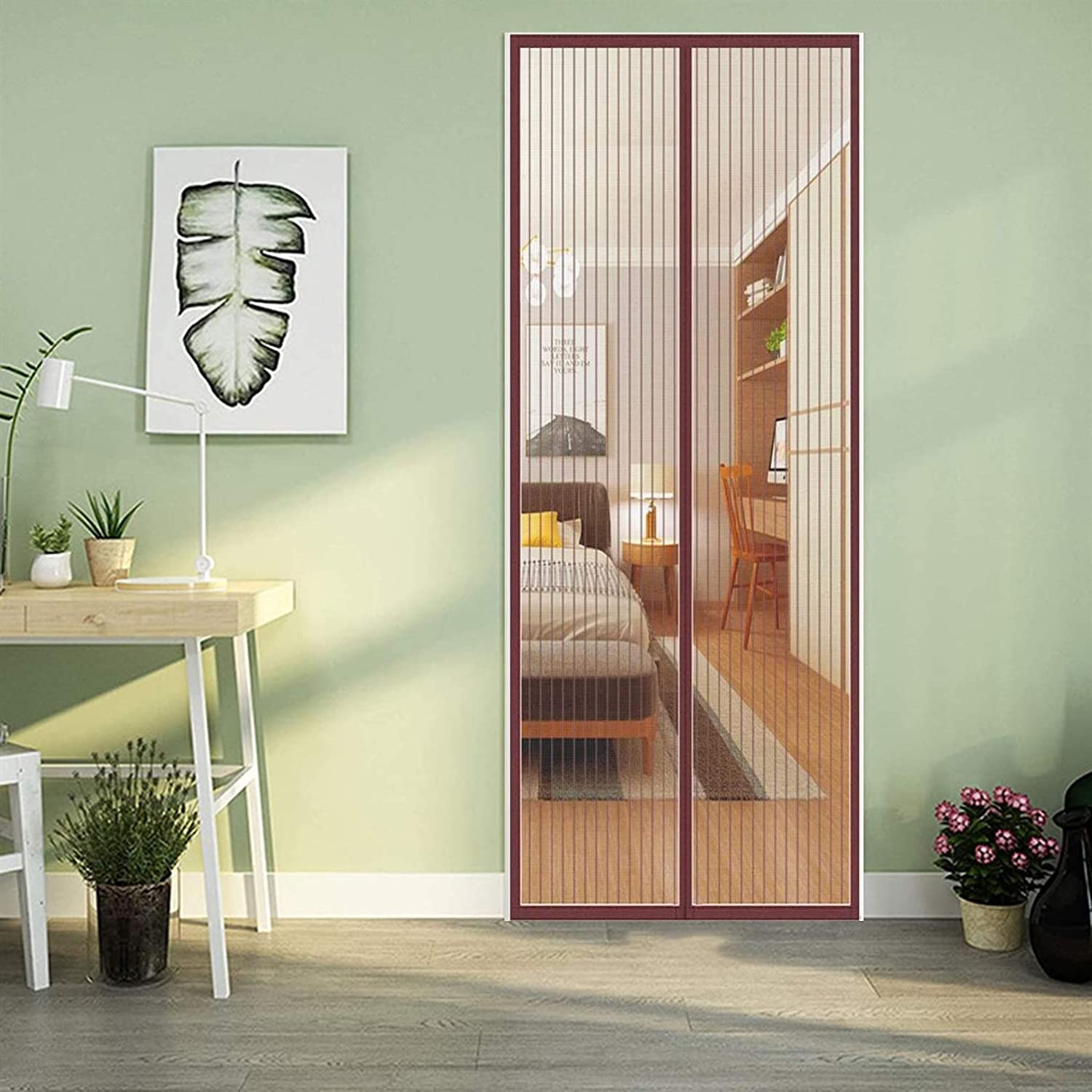 COUEO Max 41% OFF Magnetic Screen Door 110x230cm with Duty Special sale item Easy Heavy Insta