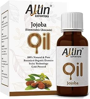Allin Exporters Jojoba Oil 15 Ml Pure Virgin Cold Pressed Unrefined Moisturizer For Face, Skin, Hair & Nails For Sensitive & Dry Skin