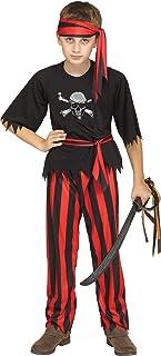 Fun World Jolly Roger Pirate Costume, Small 4 - 6, Multicolor