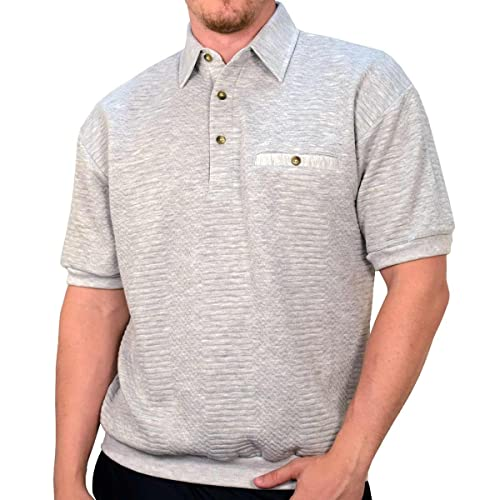 7fc821d22 Banded Bottom Classics by Palmland Solid French Terry Polo Shirt - 6090-780
