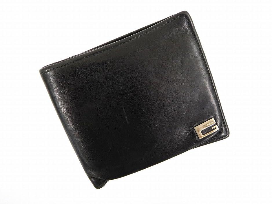 唇水星蜜[グッチ] GUCCI 二つ折り財布 レザー X10911 中古