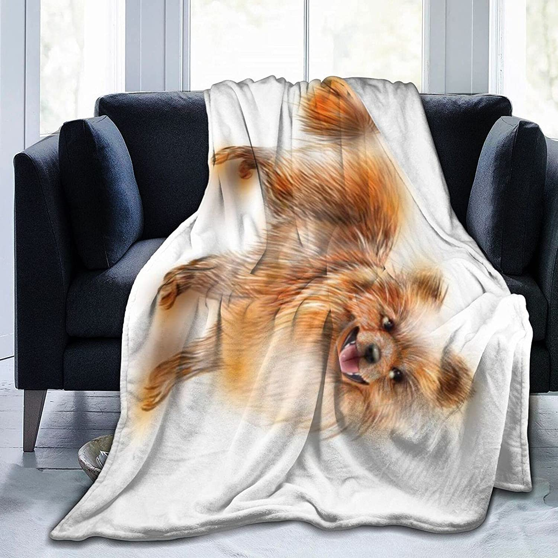 Pomeranian Oakland Mall Reservation Spitz Microfiber Flannel Blankets Lightweight Fuzzy