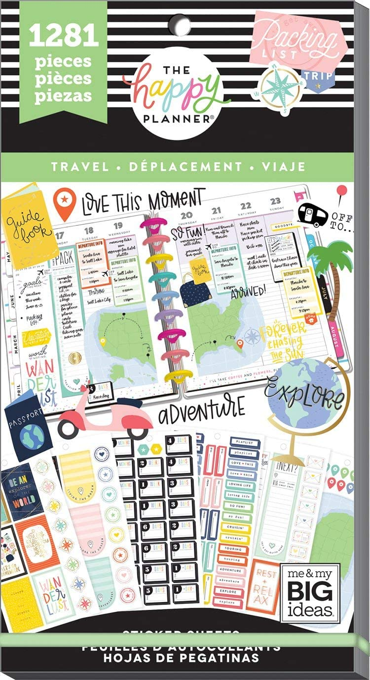 Create 365 Happy Planner Sticker Regular dealer Pack 1281 Value Max 73% OFF Travel