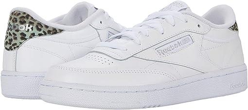 White/Silver Metallic/White
