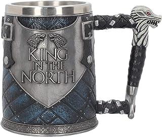 Nemesis Now King of The North Tankard - コレクターズビッグゲーム・オブ・スローンズマグカップ - ウルフウィンターが来る