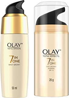 Olay Serum Total Effects 7 in 1, Anti-Ageing Smoothing Serum, 50 ml & Olay Day Cream Total Effects 7 in 1, Anti-Ageing SPF...