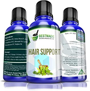 Hair Support 30mL, Natural Hair Care & Nourishment, Use for Symptoms of Hair Fall & Damaged Hair, Stimulates Hair Regrowth, Prevents Dandruff, Reduces Premature Greying, Good for Men & Women
