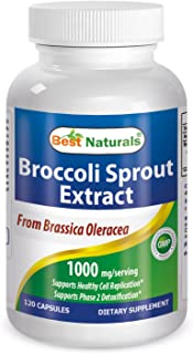 Broccoli Sprouts 1000 Mg Per Serving 120 Capsules by Best Naturals - Manufactured in a USA Based GMP Certified Facility an...