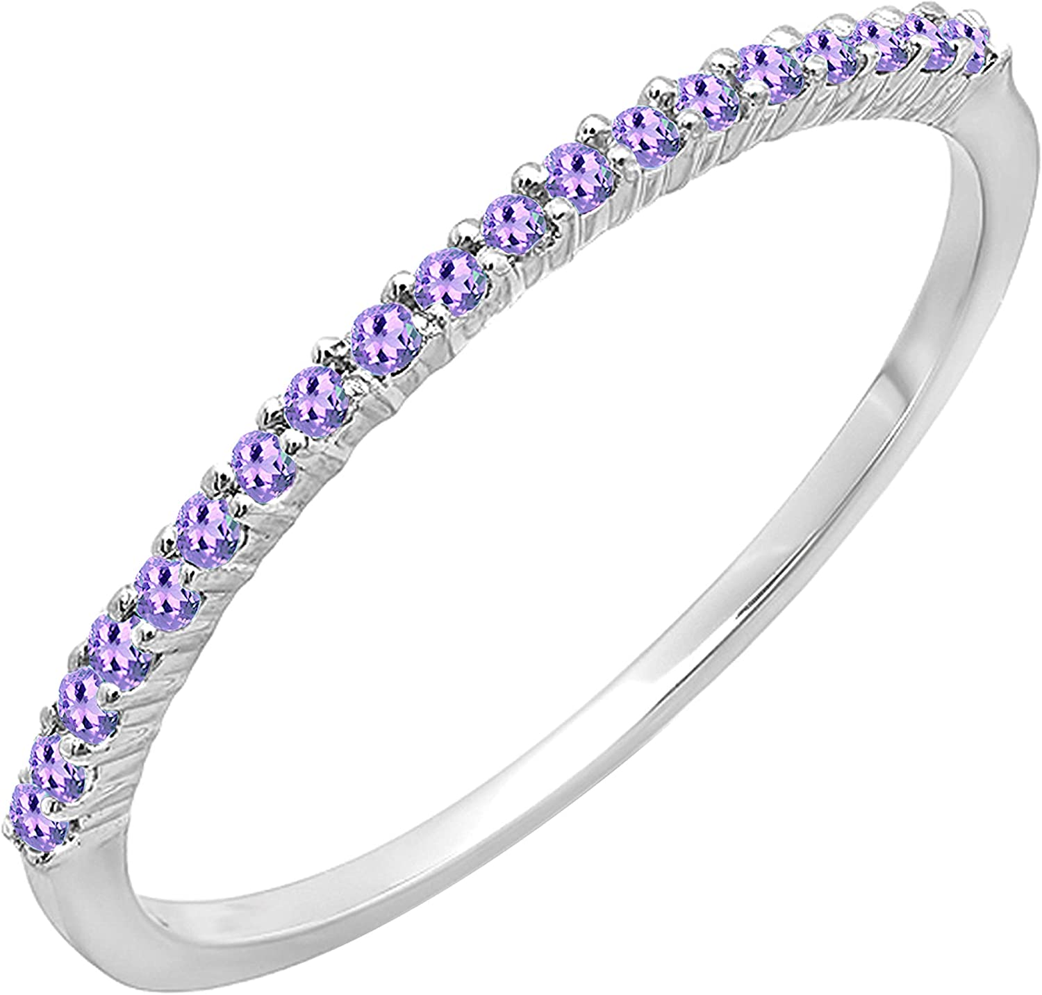 Dazzlingrock Max 81% OFF Collection Round Amethyst Free shipping New Anniversary Stacka Ladies