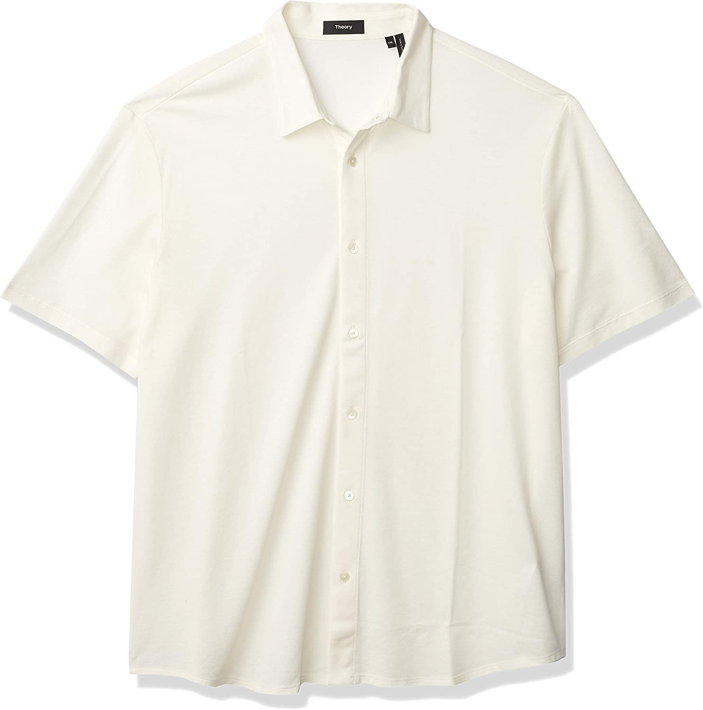 Theory Men's Pique Cotton Button Down, Fairway Shirt