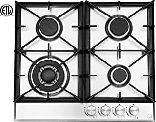Ramblewood High Efficiency 4 Burner Natural Gas Cooktop, Sealed Burner GC4-50N