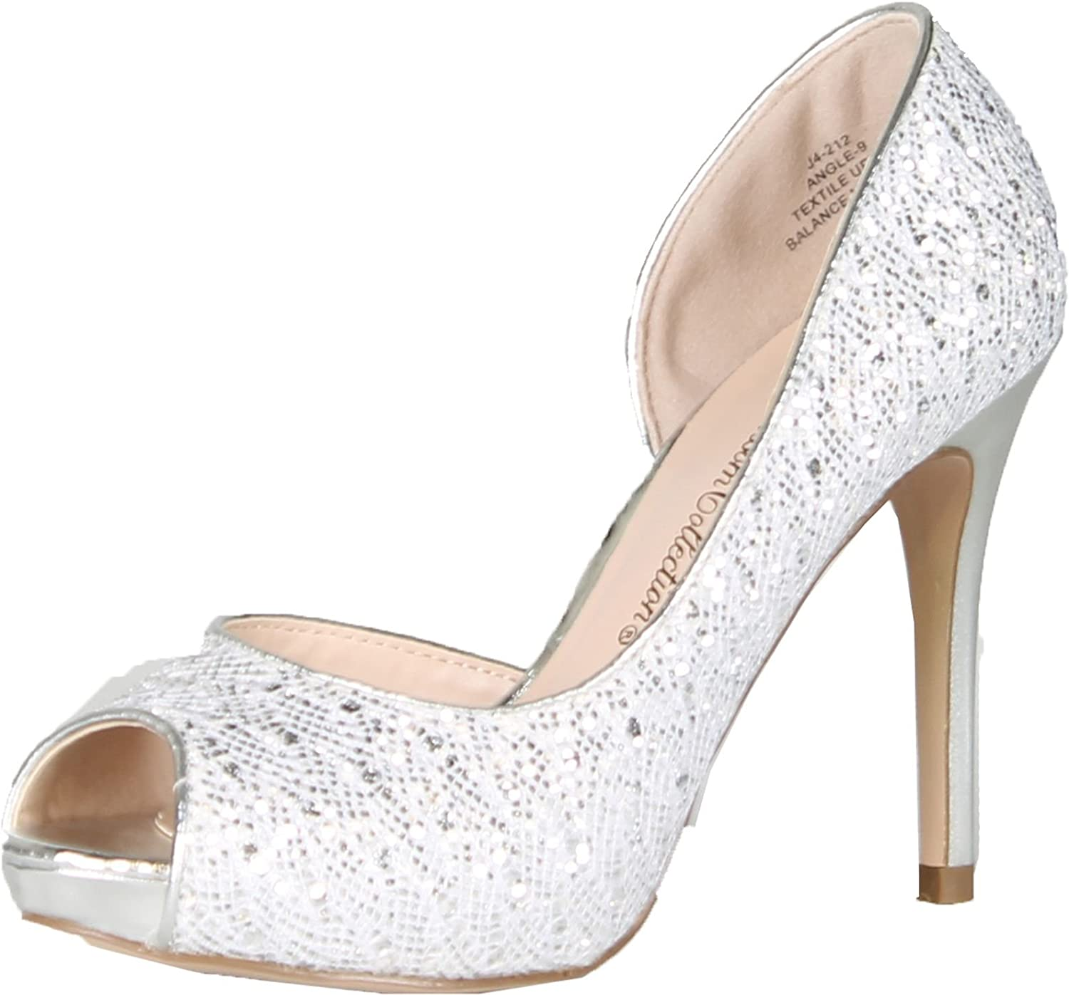 Blossom Womens Angle-9 Dress Peep-Toe Evening D-Orsay Pump