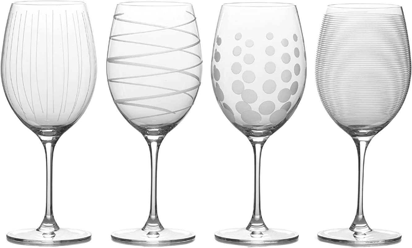 Mikasa Cheers Bordeaux Red Wine Glass 24 Ounce Set Of 4