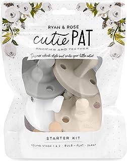 Ryan & Rose Cutie PAT Pacifier Teether (Starter Kit, Neutral)