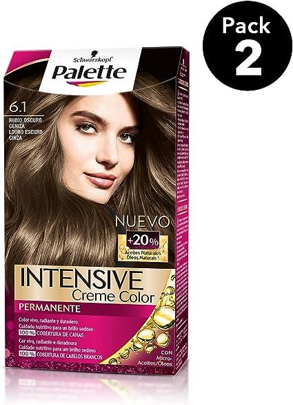 Palette Intense - Tono 6.1 Rubio Oscuro Ceniza - 2 uds - Coloración Permanente - Schwarzkopf