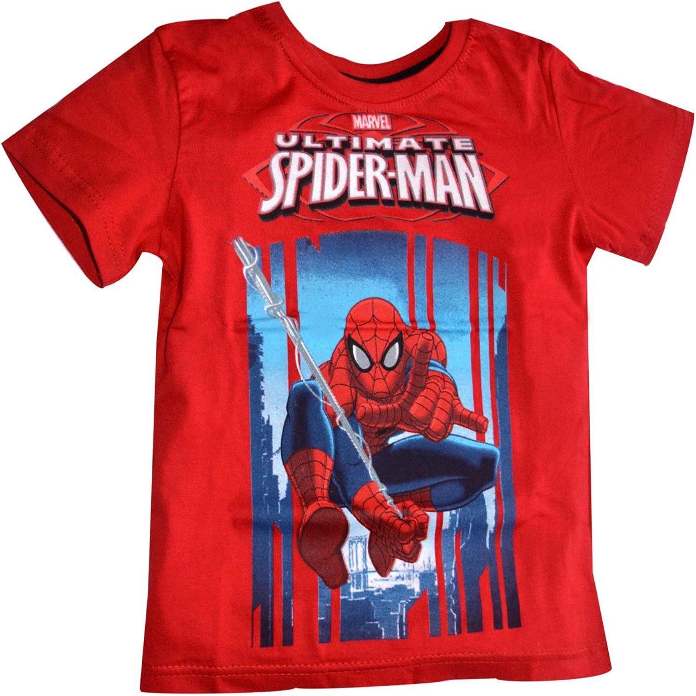 Garçons Spiderman Vs Hulk T Shirt Âge 7-8 Ans