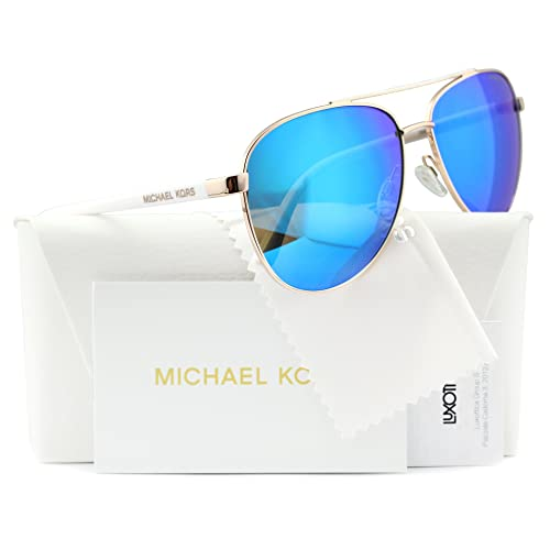 d178461cef37 Michael Kors Hvar Sunglasses MK5007 Rose Gold / Blue Mirror 1045/25 59mm