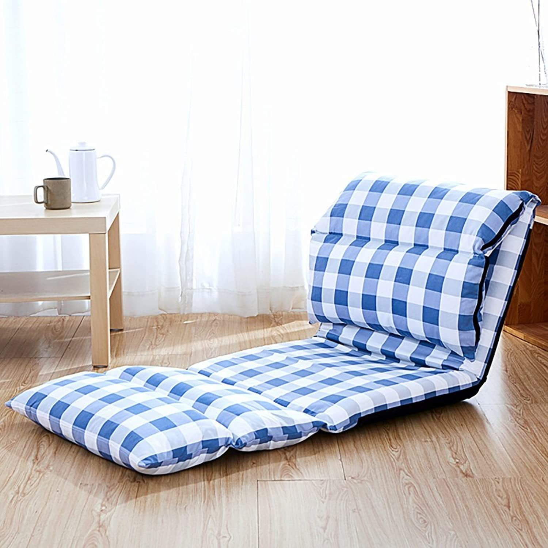 Comfortable Sofa, Lazy Sofa Foldable Single Rectangle Backrest Sofa (color   8 )