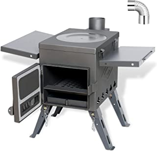 Fltom Camp Tent Stove, Portable Wood Burning Stove for...