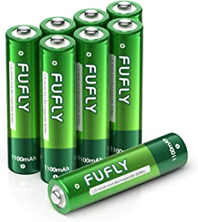 Fufly AAA Rechargeable Batteries 1100mAh - 1.2V Ni-MH High Capacity Low Self Discharge Precharged Triple A Battery (Pack of 8)…