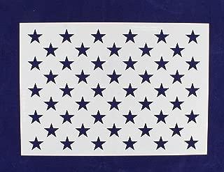 50 Star Field Stencil American Flag G-Spec 10.5 x 14.82 Inches