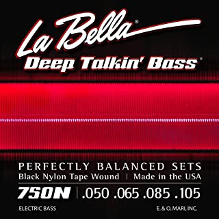 La Bella 750N Black Nylon Tapewound Bass Strings - Light