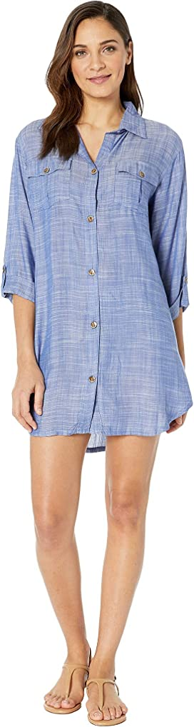 7548f86b88 Seafolly. Swing Beach Shirt Cover-Up. $102.00. On Island Time Shirtdress  Cover-Up