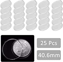 EEEKit 25 Direct Fit Airtight 40.6mm Coin Holders Capsule for 1oz US Silver Eagle w/BOX
