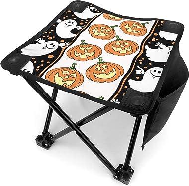 YOSULAZA Mini Camping Pumpkin and Boo Design Halloween Folding Chairs, 1.6lb of Weight Fishing Chair for Outdoor Camping Walk