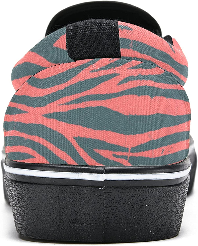 Men's Classic Slip-on Canvas Shoe Fashion Sneaker Casual Walking Shoes Loafers 6 Zebra Stripes
