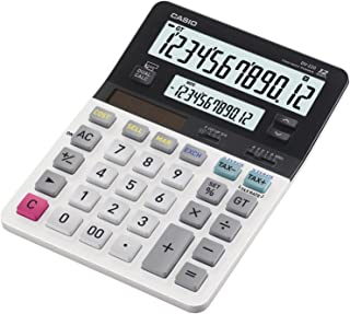 Casio DV-220, Business Desk Calculator, Dual Big Display, White/black