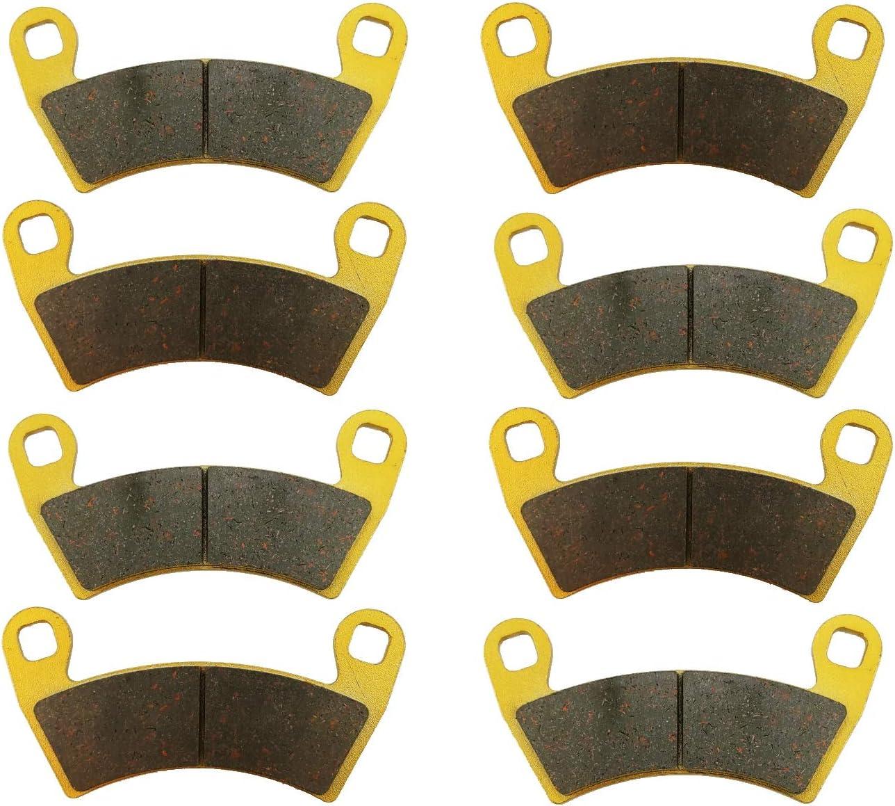 Polaris Popularity Ranger Crew XP 570-6 2016 Ceramic Brake Quality inspection Set R Font Pad